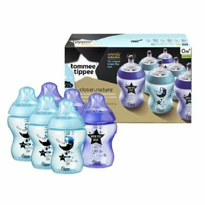 Tommee Tippee 6 x 260ml Closer To Nature Decorated Bottles