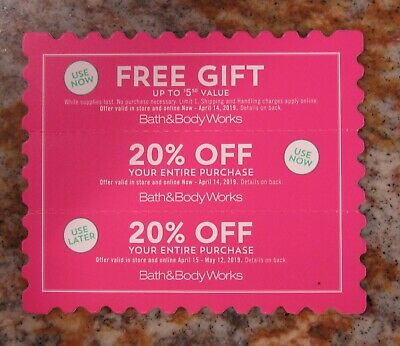 Bath and Body Works Coupons Gift + 20% Off Bath&Body Works