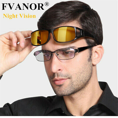 3b86245cfe4d HD Night Vision Driving Glasses Over Wrap Around Anti Glare Sunglasses  Eyewear A