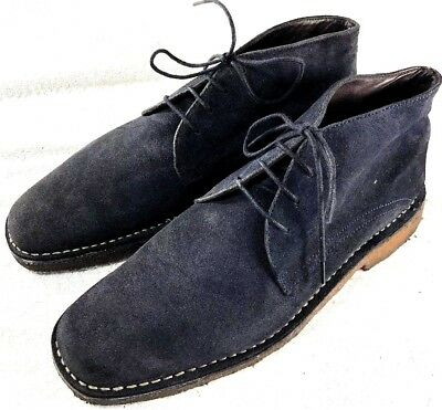 0b9717180e9 JOHNSTON & MURPHY Copeland Chukka Suede Ankle Boots Navy Blue Mens Size 10 M