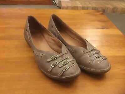 Ladies Shoes DJANGO&JULIETTE 'shante' Lilac Taupe Leather, Size 38(7)