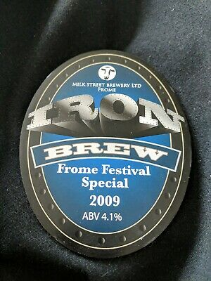 beer pump clip badge - Milk Street Brewery, Frome Iron Brew Ale