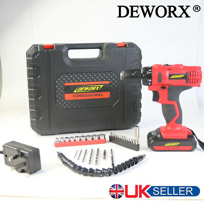 Deworx 21V Cordless Drill Electric Screwdriver Household Diy Tool Drill Driver
