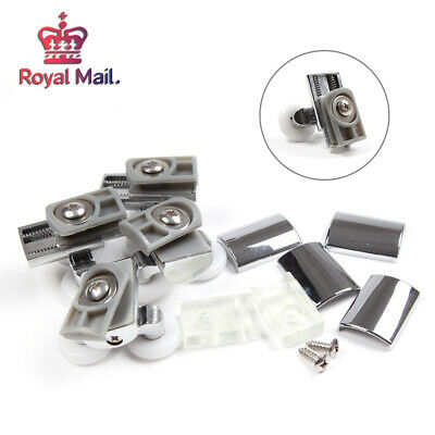 23mm 4 x Heavy Duty Twin Zinc Alloy Shower Door Rollers Runners Wheels
