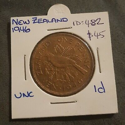 1946 New Zealand One Penny UNC