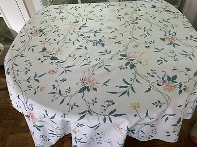 HTF Vintage Waverly Spring Meadows Round Tablecloth