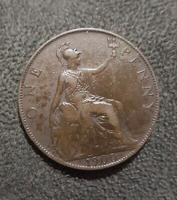 1900 Great Britain One Penny Coin