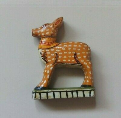 Vintage Indian Wooden Hand Crafted Deer