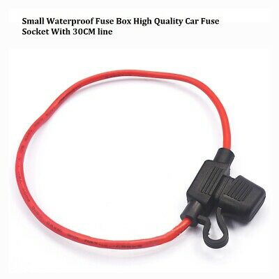 Small Waterproof Fuse Box High Quality Car Fuse Socket With 30CM line