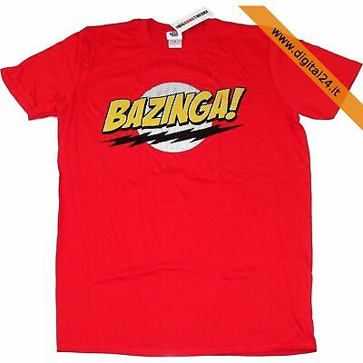 Maglietta T-Shirt The Big Bang Theory, Bazinga! in cotone - Rosso, L