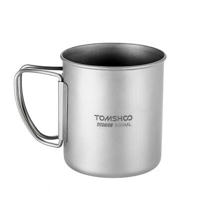 TOMSHOO 300ml Titanium Cup Outdoor Portable Camping Picnic Water Cup Mug D0B4
