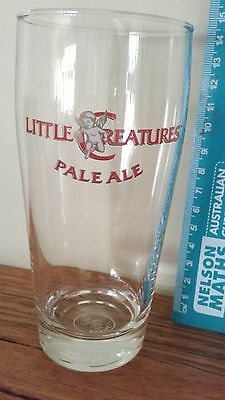 Beer Glass 'LITTLE CREATURES' middy (mancave)