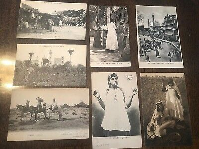 Early 1900's B&W Postcards Africa Egypt India People German French No PM (4)
