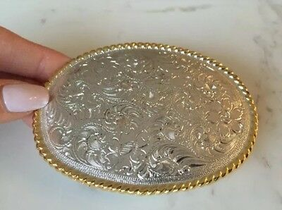 New Never Used Silver Gold Colour Cowboy Western Removable Belt Buckle