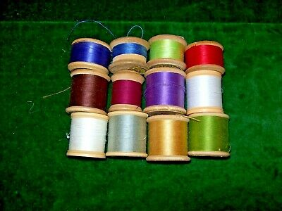 Job Lot of  Vintage Sewing Threads- Various Colours & lengths-some wooden reels