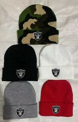 Supreme Unisex Women Men Raiders Oakland NFL Plain Girl Fashion Beanie Hats cap