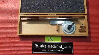 Excellent Swiss Made Tesa Brown Sharpe Protractor ( Machinist Tools)T64