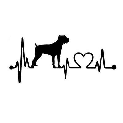 Cane Corso Heartbeat Dog Breed Fun Window Sticker Vinyl Decal 17.8CM x 8CM