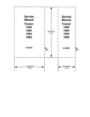 case ih 1490,1690,1494,1594 tractor complete service manual