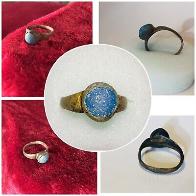 Ancient Bronze Ring With Stone *roman Empire* Rare!!!