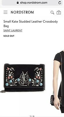 6205caea55b Saint Laurent YSL Kate Monogram YSL Small Stone-Studded Suede Shoulder Bag  2950