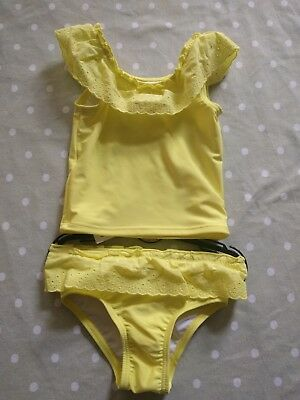 M&S Marks & Spencer Baby Yellow Broderie 2 Piece Swim Suit 18-24 Months BNWT!