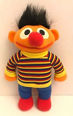 Sesame Street Playskool Ernie Plush Stuffed Animal Doll Jim Henson Hasbro Vtg