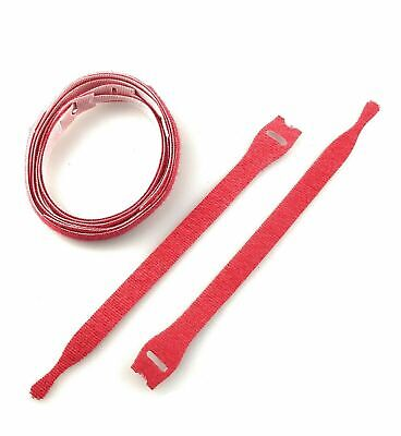 VELCRO® Brand Cable Tie One Wrap Strap Red Ties Hook and Loop