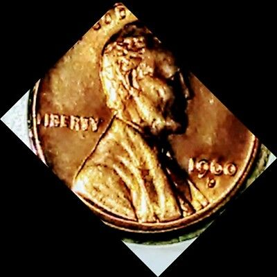 1960D d variety Smalldate OVER LARGE DATE.!Lincoln Memorial Cent BU Gem Red Penn