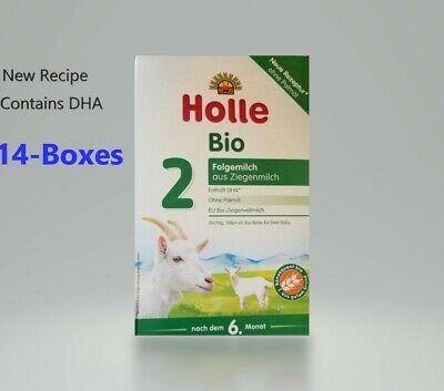 14-BOXES Holle Organic Goat Milk Formula Stage 2 400g FREE SHIPPING EXP 2/2020