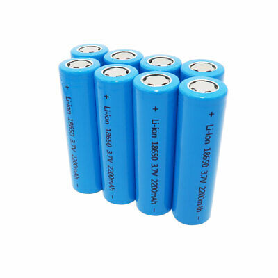 2/4/6/8 18650 Batteries 2200mAh Li-ion High Drain Rechargeable Battery for Mod