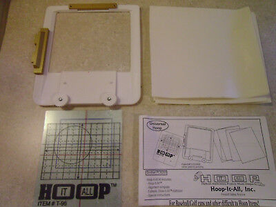 """Hoop It All """"Universal Hoop"""" Brother PC800 w/ Template & Stabilizer, Embroidery"""