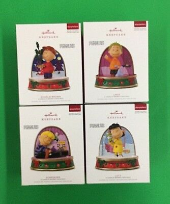 Charlie Brown Peanuts Storytellers - 4 of 5 From Set 2018 Hallmark Ornaments NIB