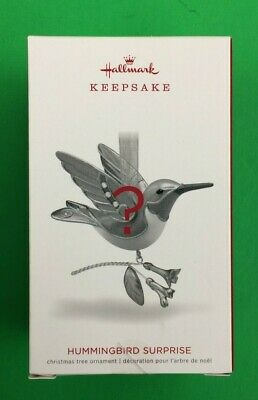 Hummingbird Surprise - Green Blue - Beauty of Birds - 2018 Hallmark Ornament NEW
