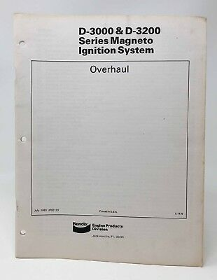 BENDIX D-3000 & D-3200 Magneto Ignition System Overhaul Manual 1983
