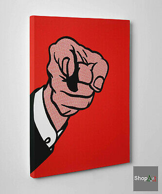 👍Quadro Pop Art Roy Lichtenstein Hey You Stampa su Tela effetto Dipinto 👈