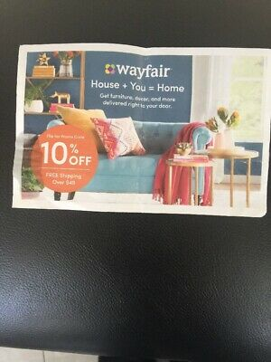 WAYFAIR 10% OFF COUPON EXP 5/15/19. Fast Delivery. Valid on First Order Only