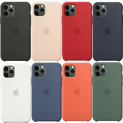 Genuine OEM Cover Original Silicone Leather Case For iPhone XR XS Max 7 8 Plus
