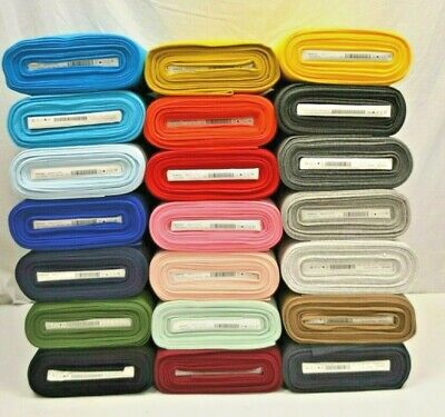 26fcaf51987 Plain Colour RIB 70cm Wide Tubular Ribbed CUFF CUFFING Cotton Jersey Fabric