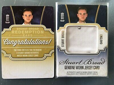 Stuart Broad Genuine Worn Jersey Card 2018 England cricket trading card Scarce