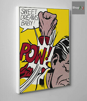 🎨Quadro Pop Art Roy Lichtenstein Sweet Dreams Stampa su Tela effetto Dipinto