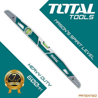 MASON'S SPIRIT LEVEL 600MM Professional Builders Hand Tool / DIY - Total Tools