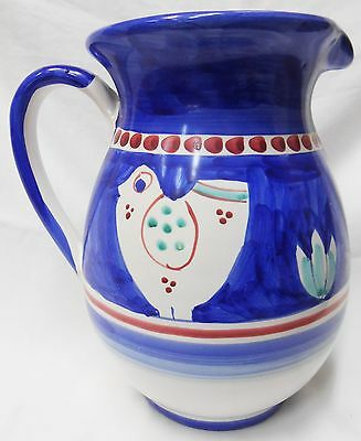Vietri Pottery- 1 liter Pitcher Chicken campagna. Made/Painted by hand-Italy