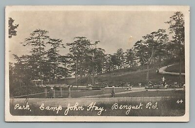 Camp John Hay—Baguio Benguet RPPC Philippines RARE Antique Photo US Army 1910s