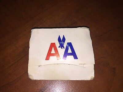 Vintage AMERICAN AIRLINES AA Advertising GOLF TEES (4) and MARKER in Folder bb93a7d6af0bd