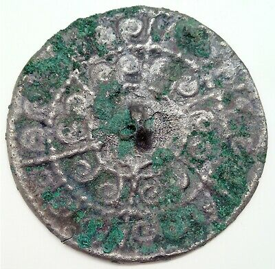 Bronze Mirror Pendant  61mm. /  500-900AD. Coin / Viking