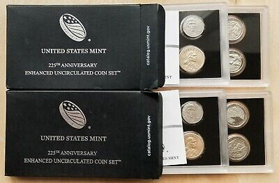 2017-S 225th Anniversary Enhanced Uncirculated Set Lot of 2, 99c Start [Mar29_5]