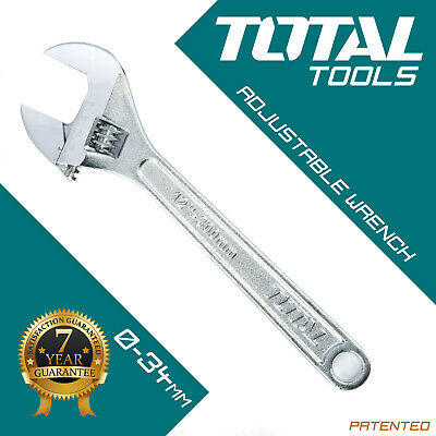 ADJUSTABLE WRENCH SPANNER 300mm & 34mm Wide Jaw Drop Forged Steel - Total Tools