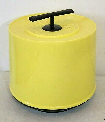 Vintage Mid-Century Super Clean Yellow Record TOTE, 45 rpm Record Holder, Caddy