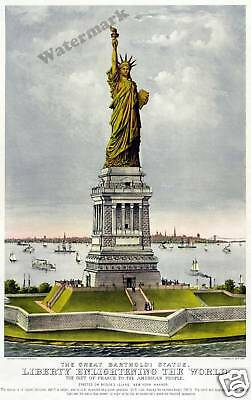 Wall Art   Statue of Liberty 1885 Poster New York 11x17